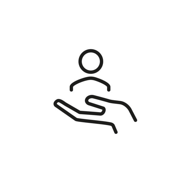 hr line icon - помощь stock illustrations