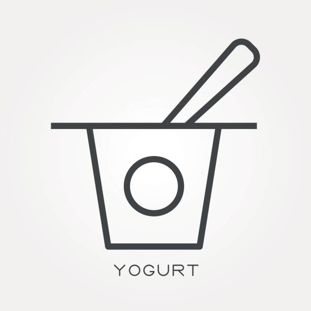 Yogurt Line Drawing : Royalty free yogurt cup clip art vector images