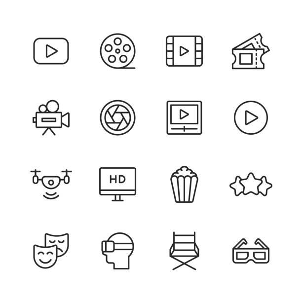 --- liniensymbole. bearbeitbarer strich. pixel perfekt. für mobile und web. enthält symbole wie ---. - zusehen stock-grafiken, -clipart, -cartoons und -symbole
