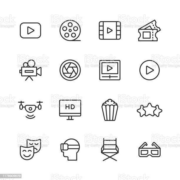 Icônes De Ligne Accident Vasculaire Cérébral Modifiable Pixel Parfait Pour Mobile Et Web Contient Des Icônes Telles Que Vecteurs libres de droits et plus d'images vectorielles de Acteur
