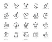 istock 20 line icons for cooking theme. Vector set of outline symbols isolated on white background. Kitchen accessories labels 902515762