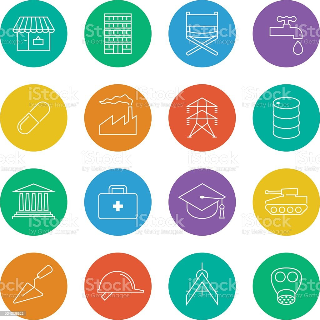 line icons industry 1 vector art illustration