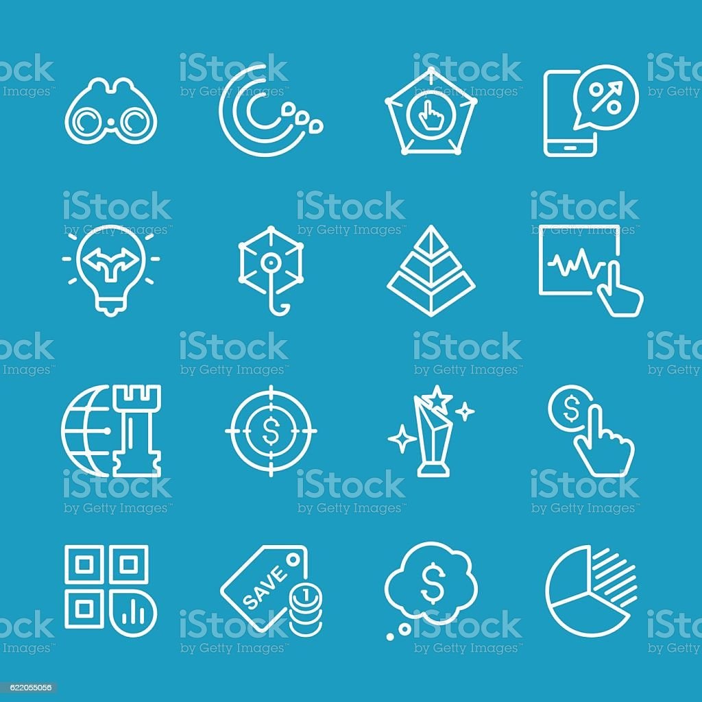 Line icons - Marketing Series vector art illustration