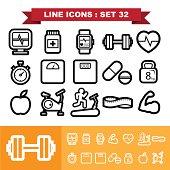 Line icons set 32 .Illustration eps 10