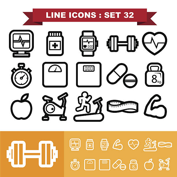 Line icons set 32 Line icons set 32 .Illustration eps 10 meter instrument of measurement stock illustrations
