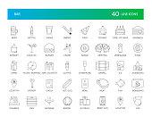 Line icons set. Bar pack. Vector Illustration