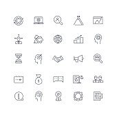 Line icons set. Business pack. Vector illustration. Web and Ui/UX Collection