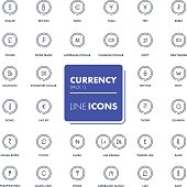 Line icons set. Currency market