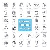 Line icons set. Octoberfest