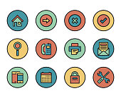 Line icons set of User Interface. Modern color flat design linear pictogram collection. Outline vector concept of stroke symbol pack. Premium quality web graphics material.
