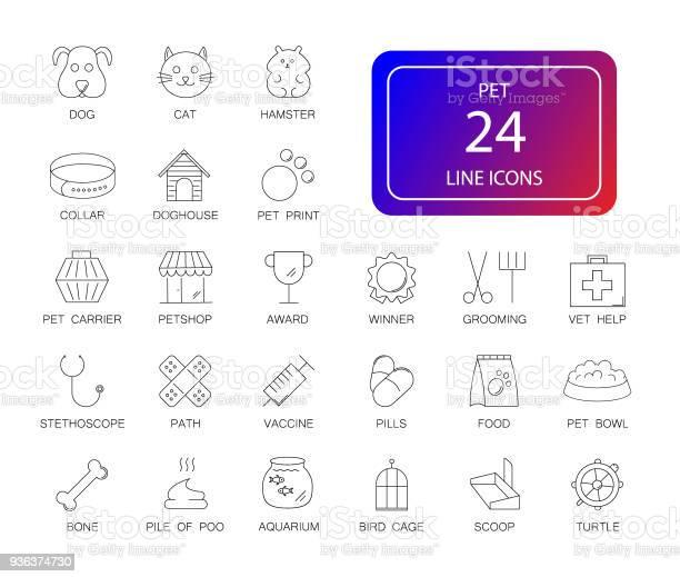 Line icons set pet pack vector id936374730?b=1&k=6&m=936374730&s=612x612&h=cjpalzw p4l4qobky8g3d0xz74fght8lgrnmpinjczc=
