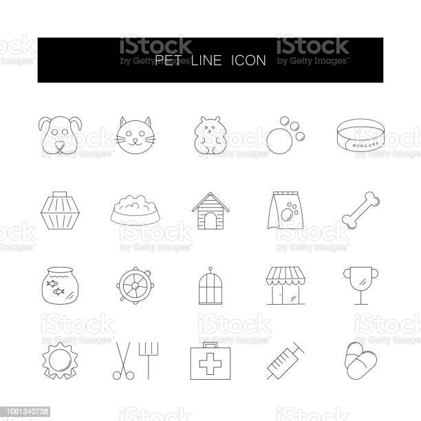 Line icons set pet pack vector illustration vector id1061340738?b=1&k=6&m=1061340738&s=612x612&h=ta1ommlgzfpq7byelhwlismlwt0hw0 cwttms urlp0=