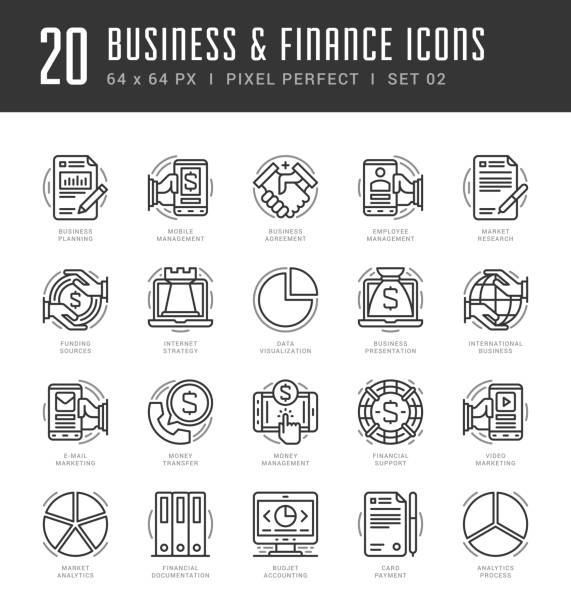 Line icons set. Trendy Modern flat thin linear stroke vector Line icons set. Trendy Modern flat thin linear stroke vector Business and Finance concept. For website graphics, Mobile Apps, Infographics design, Brochures. Outline pictogram pack. spring flowing water stock illustrations