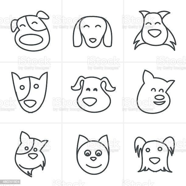 Line icons style fun dog icon vector vector id480251924?b=1&k=6&m=480251924&s=612x612&h= sx0ojgpzvtoso3skbdhcllzzwxsqs4aupeac7v zzs=