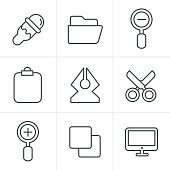 Line Icons Style Graphic design icons