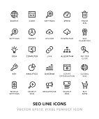 SEO Line Icons Vector EPS 10 File, Pixel Perfect Icons.