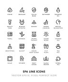 SPA Line Icons Vector EPS 10 File, Pixel Perfect Icons.