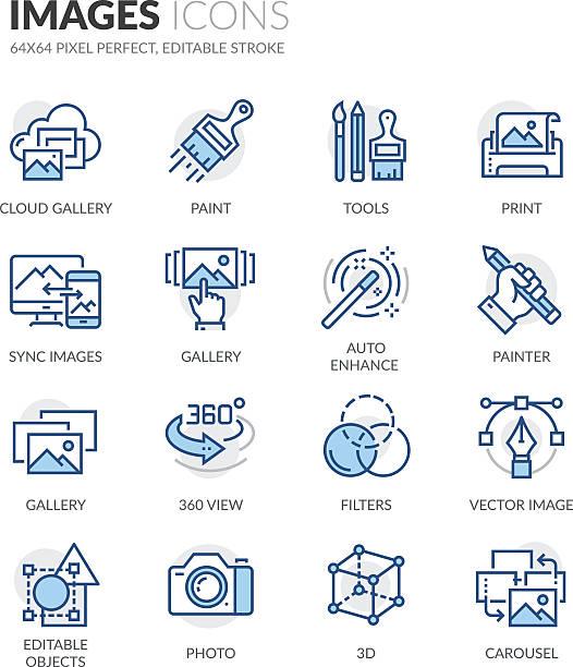 line images icons - 美術館点のイラスト素材/クリップアート素材/マンガ素材/アイコン素材