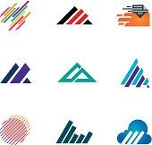 Line inspiration professional design symbol fast triangle logo speed icons
