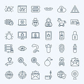 Line Internet Security Icons