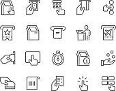 istock Line Kiosk Terminal Icons 522380838