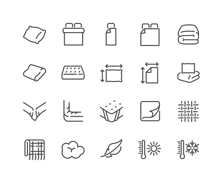 Line Linens Icons