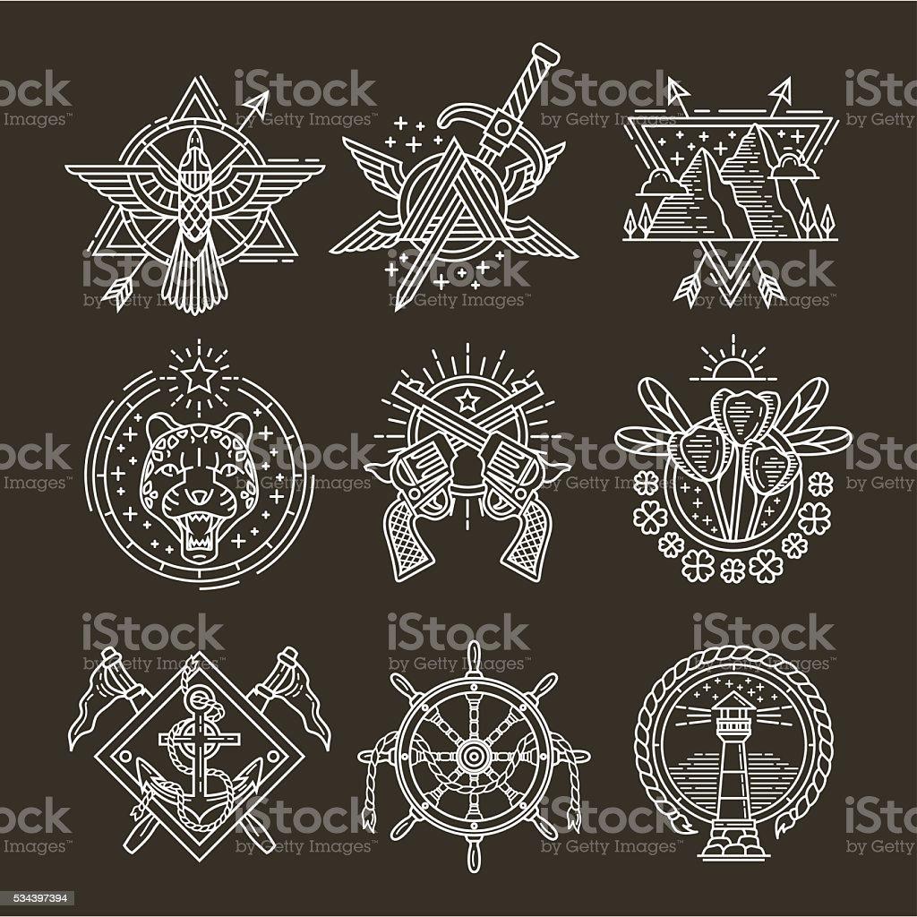 line-logos – Vektorgrafik