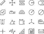 istock Line Measure Icons 624498002