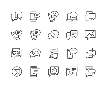 Line Messages Icons