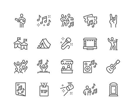 Line Music Festival Icons