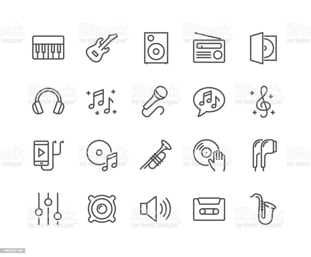 Icônes de musique ligne - clipart vectoriel de Arranger libre de droits