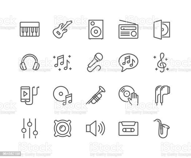 Icônes De Musique Ligne Vecteurs libres de droits et plus d'images vectorielles de Arranger