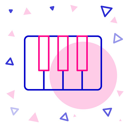 Line Music synthesizer icon isolated on white background. Electronic piano. Colorful outline concept. Vector Illustration
