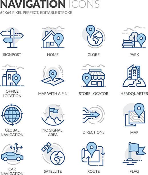 navigation symbole - kartographie stock-grafiken, -clipart, -cartoons und -symbole