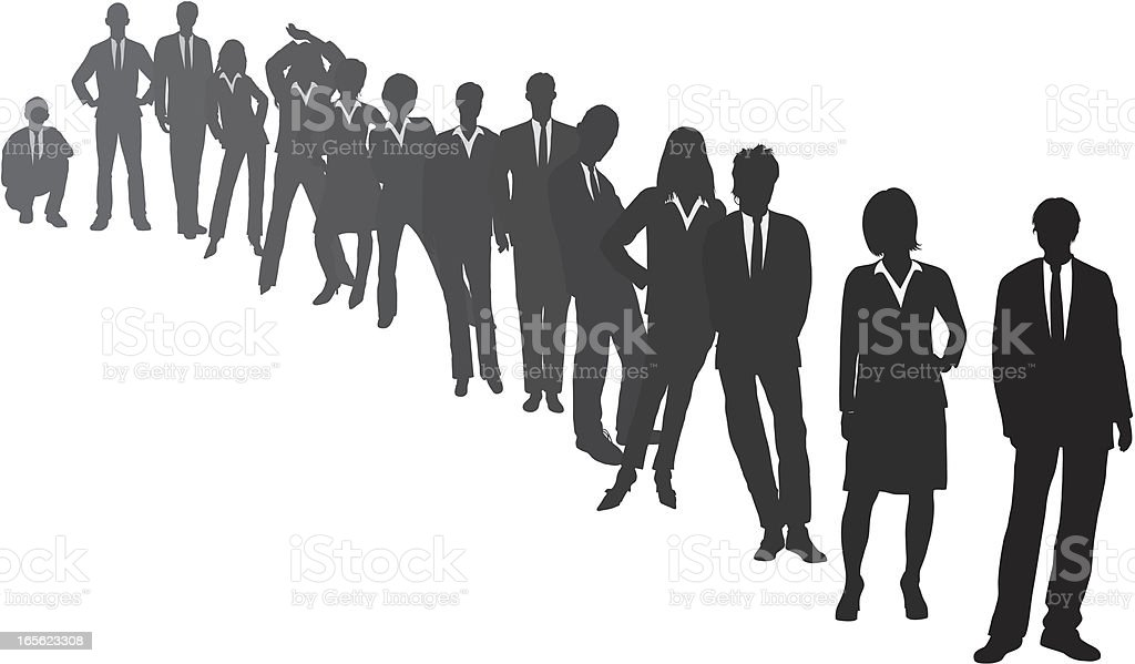 Line of Business People vector art illustration