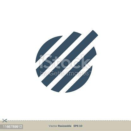 Line of Globe vector Logo Template Illustration Design. Vector EPS 10.