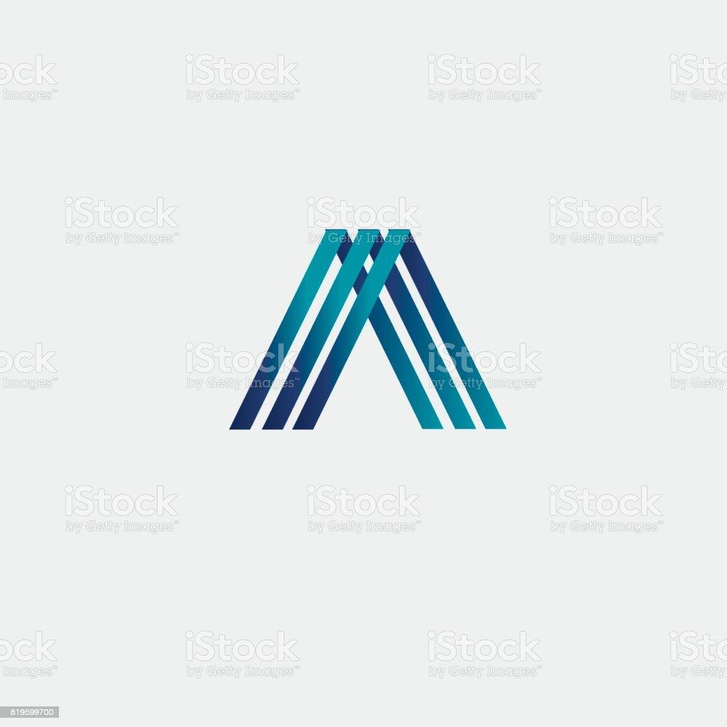 çizgi harf A öğesi tasarım vektör sanat illüstrasyonu