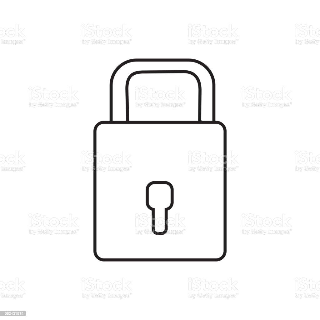 cadenas de ligne d'avoir sacurity la particularité cadenas de ligne davoir sacurity la particularité – cliparts vectoriels et plus d'images de acier libre de droits