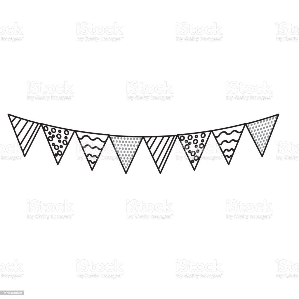 ligne de drapeaux du parti pour les joyeux anniversaire décoration ligne de drapeaux du parti pour les joyeux anniversaire décoration – cliparts vectoriels et plus d'images de aliment libre de droits