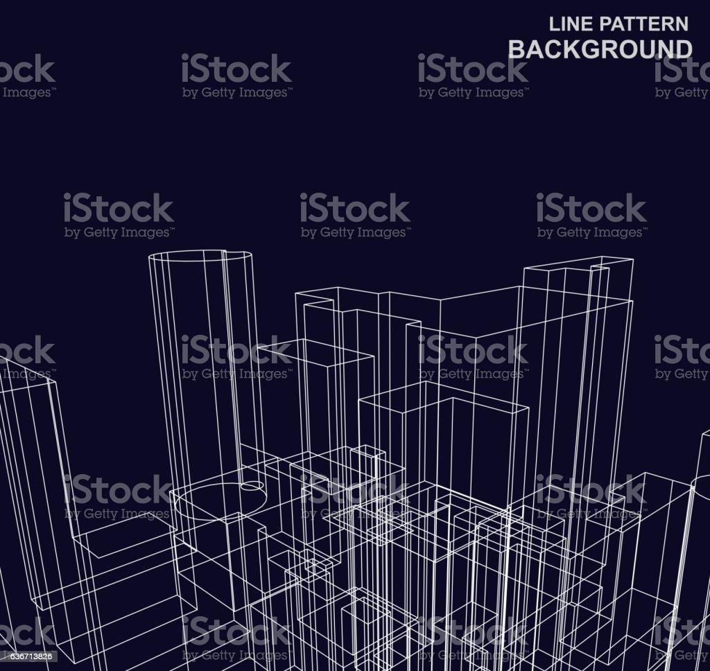 Lignes de motif background - Illustration vectorielle