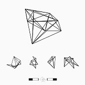 line pattern geometry vector icon