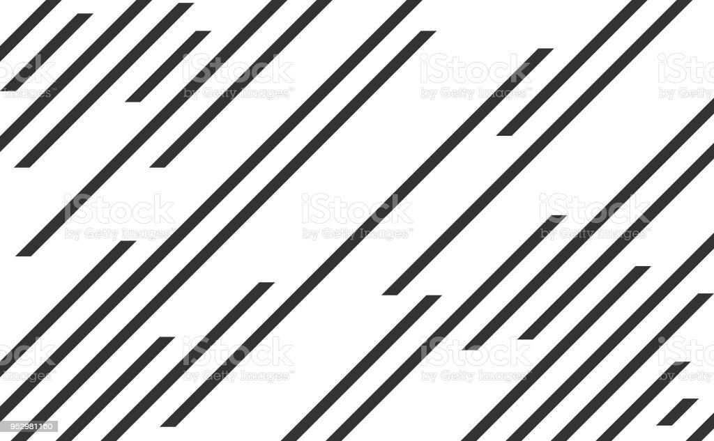 Line pattern, speed lines vector art illustration