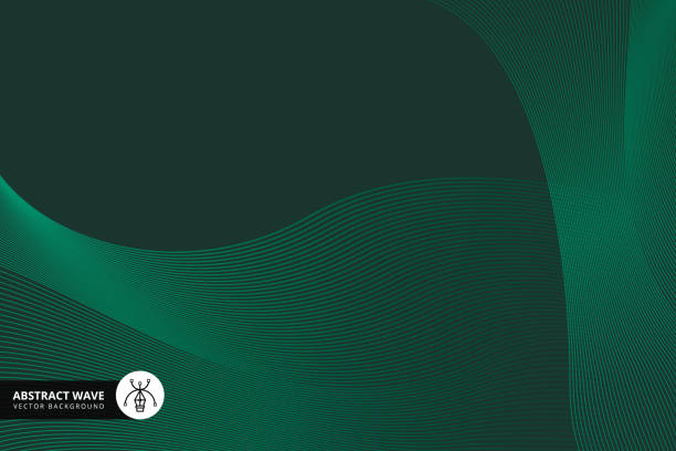 stockillustraties, clipart, cartoons en iconen met lijn patroon technische achtergrond - green background