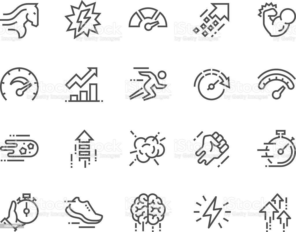 Line Performance Icons - Royalty-free Aaien vectorkunst