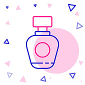 Line Perfume icon isolated on white background. Colorful outline concept. Vector Illustration