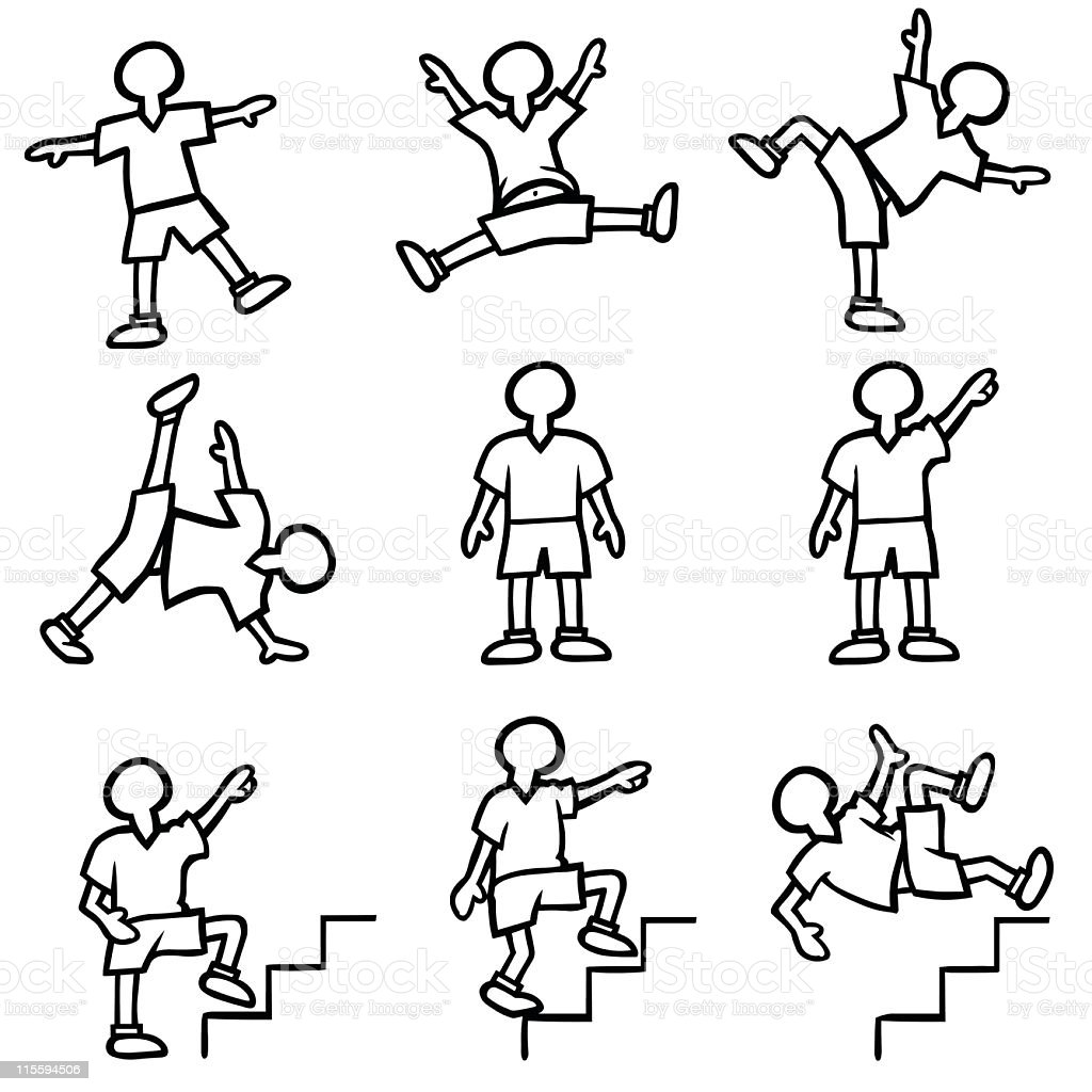 how to draw a person moving