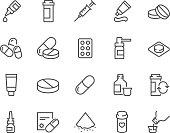 Line Pills Icons