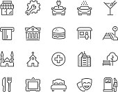 Line Points of Interest Icons