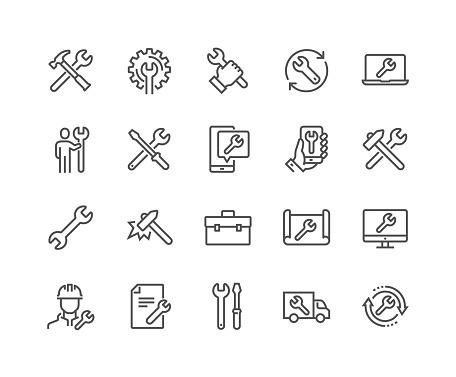 work icons stock illustrations