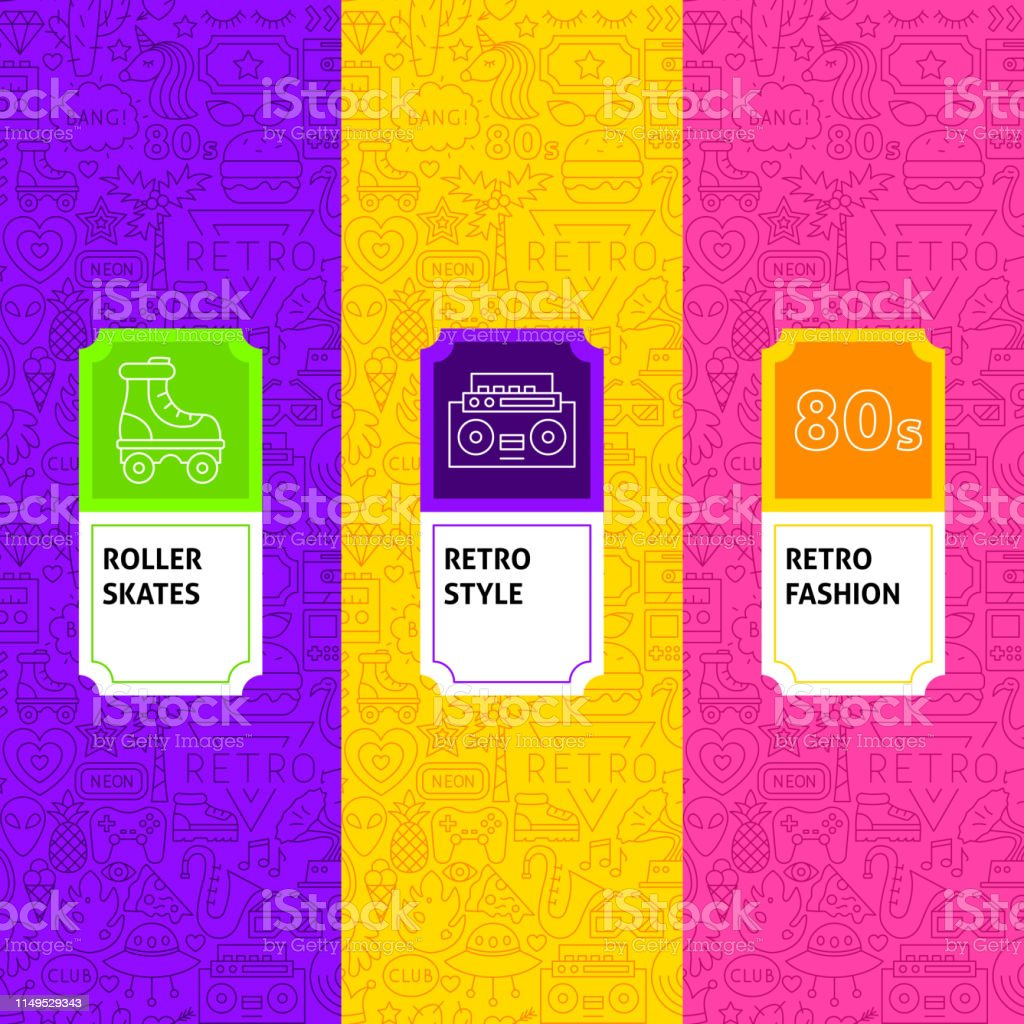 Line Retro Package Labels. Template for Packaging Design.
